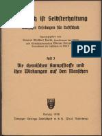 Luftschutz ist Selbsterhaltung Heft 3 - Die chemischen Kampfstoffe / Günther Krompholz 1936