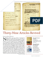 Thirty-Nine Articles Revived