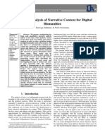 Automated Analysis of Narrative Content for Digital Humanities