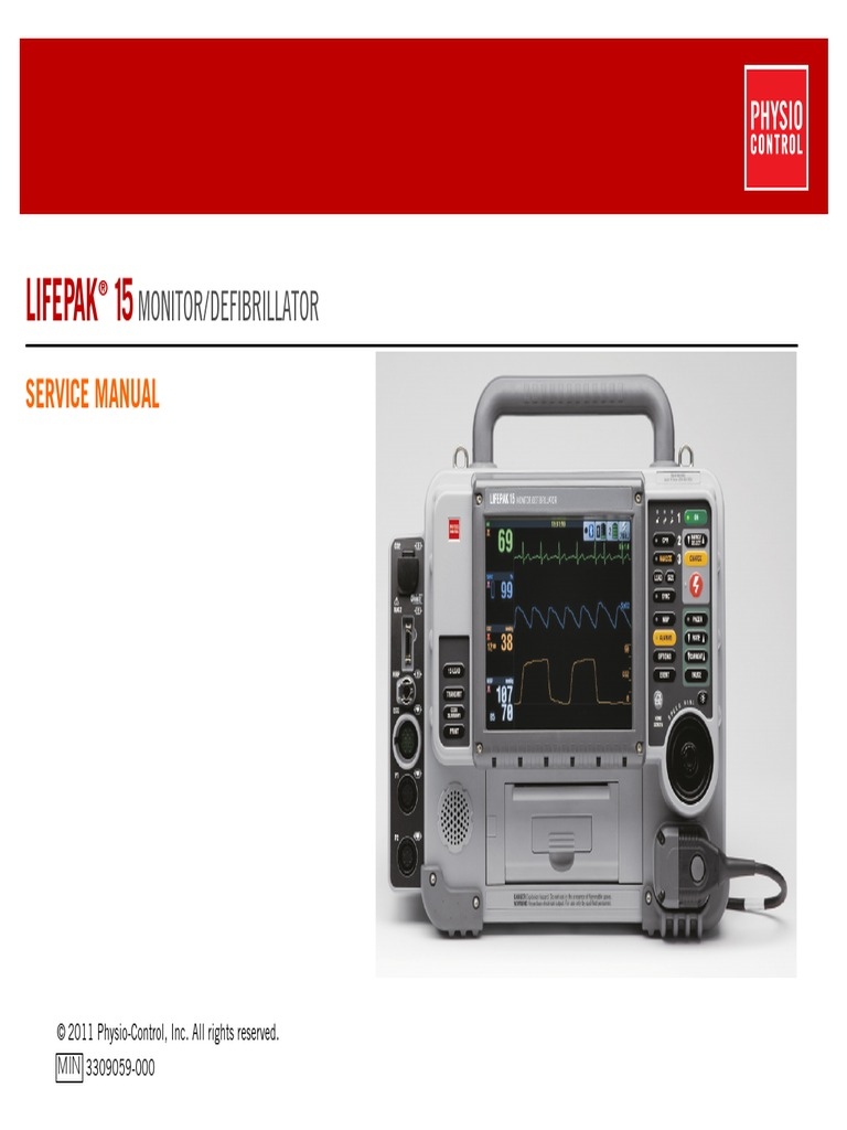 PhysioControl Lifepak 15 Defibrillator - Service Manual | Technology |  Computing And Information Technology