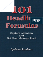Blog 101 Headline Formulas Peter Sandeen