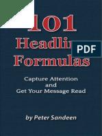 Blog 101 Headline Formulas Peter Sandeen