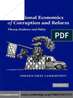 CORRUPTION the Institutional Economics of Corruption and Reform (1)
