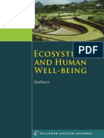 Ecosystems and Well Being