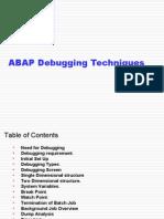 ABAP Debugging Techniques