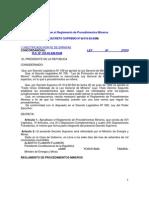 Reglamento de Procedimientos Mineros