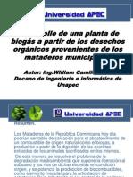 planta de biogas sostenible para un Matadero municipal-Wilca.pptx