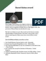 List of All Bharat Ratna Award Winners