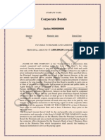 Bond Specimen financial instruments