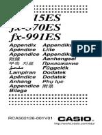 Casio Fx 115ES 991ES Appendix