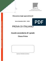 Italiano PRIMA Secondaria I Grado SNV2012