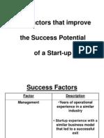 Key Factors That Improve Success Potential
