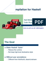 Supercompilation for Haskell