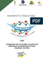 Curs Tehnologii de Cultivare Plante Medicinale