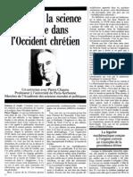 Pierre Chaunu - Pourquoi la science est née dans l'Occident chrétien