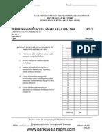 Kertas 1 Pep Percubaan SPM SBP 2009_soalan