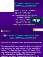 Finantial Ratio Analysis for Non Financial Managers Extraordinario World Bank 122 Slides
