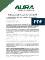 Reforma Condicionada del artículo 75