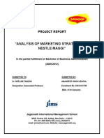 107494610 Project Report of Maggi 1