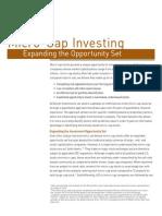 SMALL Micro-Cap Investing