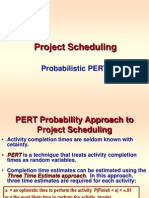 Project Scheduling -- Probabilistic PERT