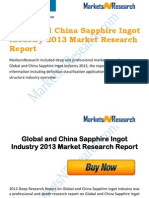 Global and China Sapphire Ingot Industry 2013 Market Size, Share, Growth & Forecast