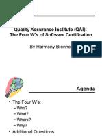 QAI Certification Comparisons