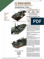 80' ELCO PT Boat - Custom Wood Ship Models