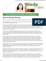 Auto Iso Nosode Therapy, Viral Infections, CFS