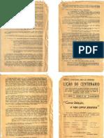 LIÇÃO DO CENTENÁRIO1958