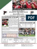 Atlanta Falcons vs. Miami Dolphins Week 1