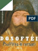 Dosoftei - Psaltirea in Versuri (Tabel Crono)