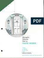 Sylvania Bright Ideas for a Safe Home Brochure 1962