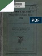 (1922) U.S.M.C. Uniforms Regulations