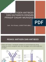 Reaksi Antigen-Antibodi Dan Kaitannya Dengan Prinsip Dasar Imunisasi