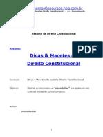 Direito Constitucional Dicas e Macetes Resumos Concursos
