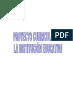 Proyecto Curricular de La I.E