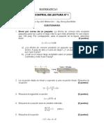 Matematica i - Control de Lectura 1 - Cuestionario (1)