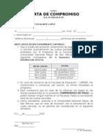 Carta Compromiso Pagos Lima 2012 i II Semestre