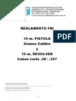Pistola y Revolver FBI 2013