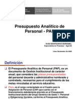 Presupuesto Analitico de Personal