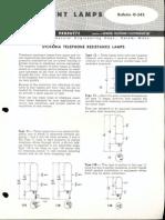 Sylvania Engineering Bulletin - Telephone Resistance Lamps