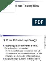 Psy 407 Cultural Bias