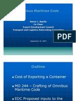 Omnibus Maritime Code