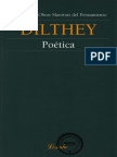 Dilthey - Poetica