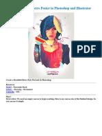 Create a Colourful Retro Poster in Psd-Ai
