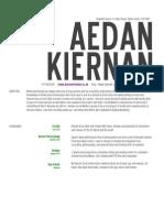 Aedan's CV New Employee