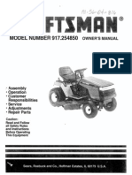 Craftsman Tractor 917.254850 Manual