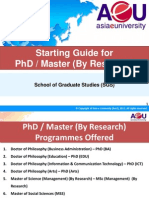 Starting Guide for PhD & Master (by Research) 171012