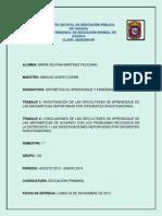 Investigacion Sobre Las Dificultades de Aprendizaje en Las Matematicas.